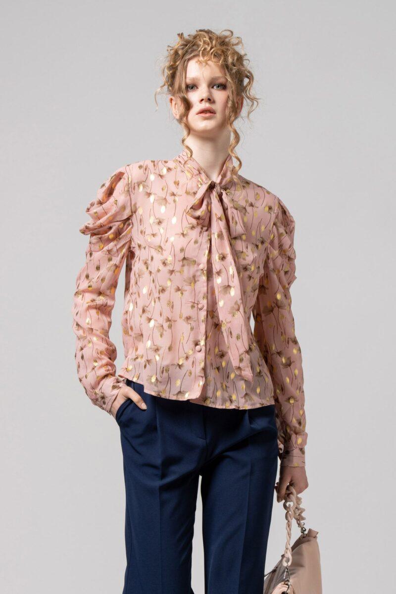 Πουκάμισο με δέσιμο ροζ 2702504-1