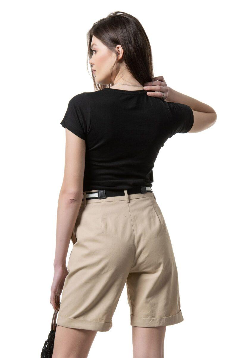 Μπλούζα κοντομάνικη μαύρη ''elegance'' 1002319
