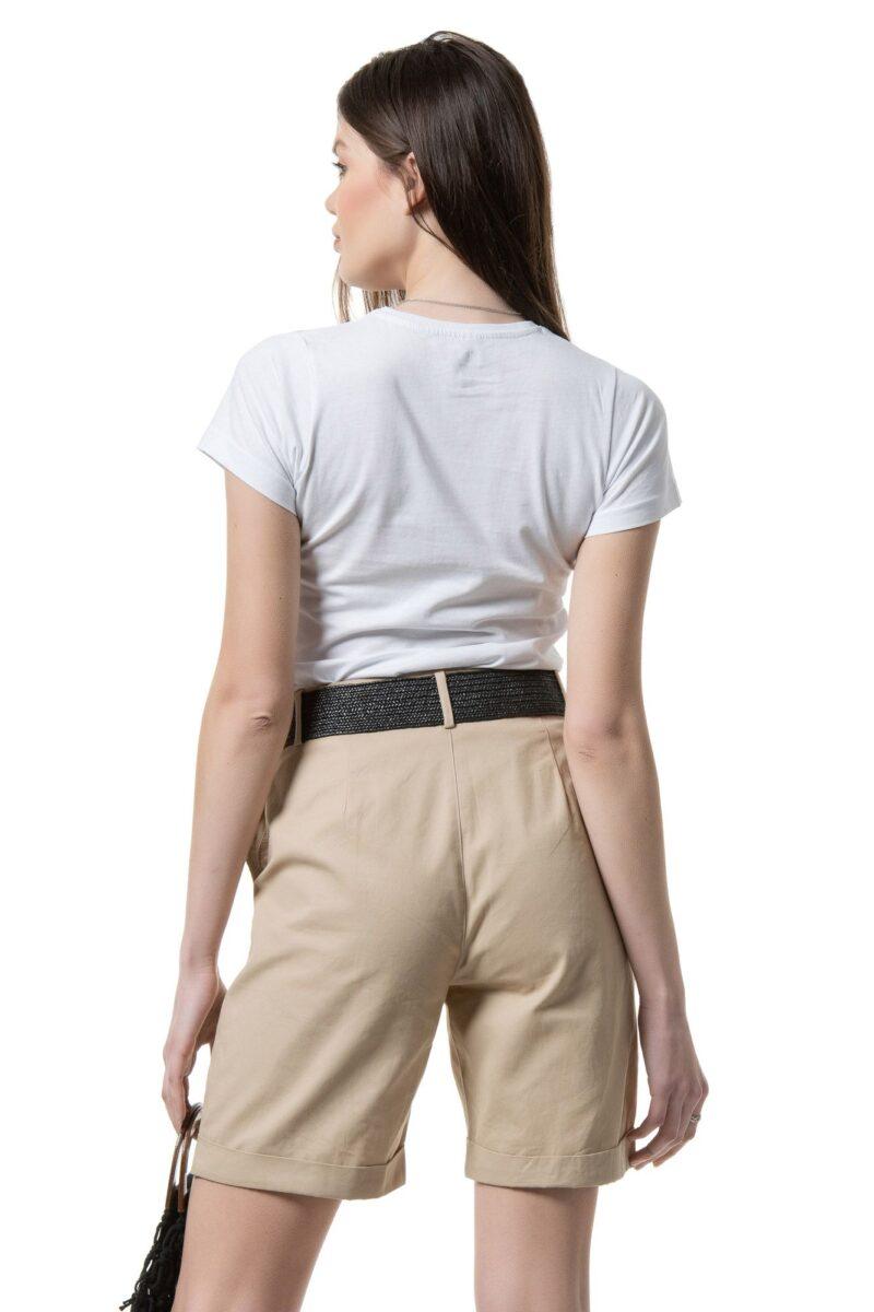 Μπλούζα κοντομάνικη λευκή ''elegance'' 1002319-1