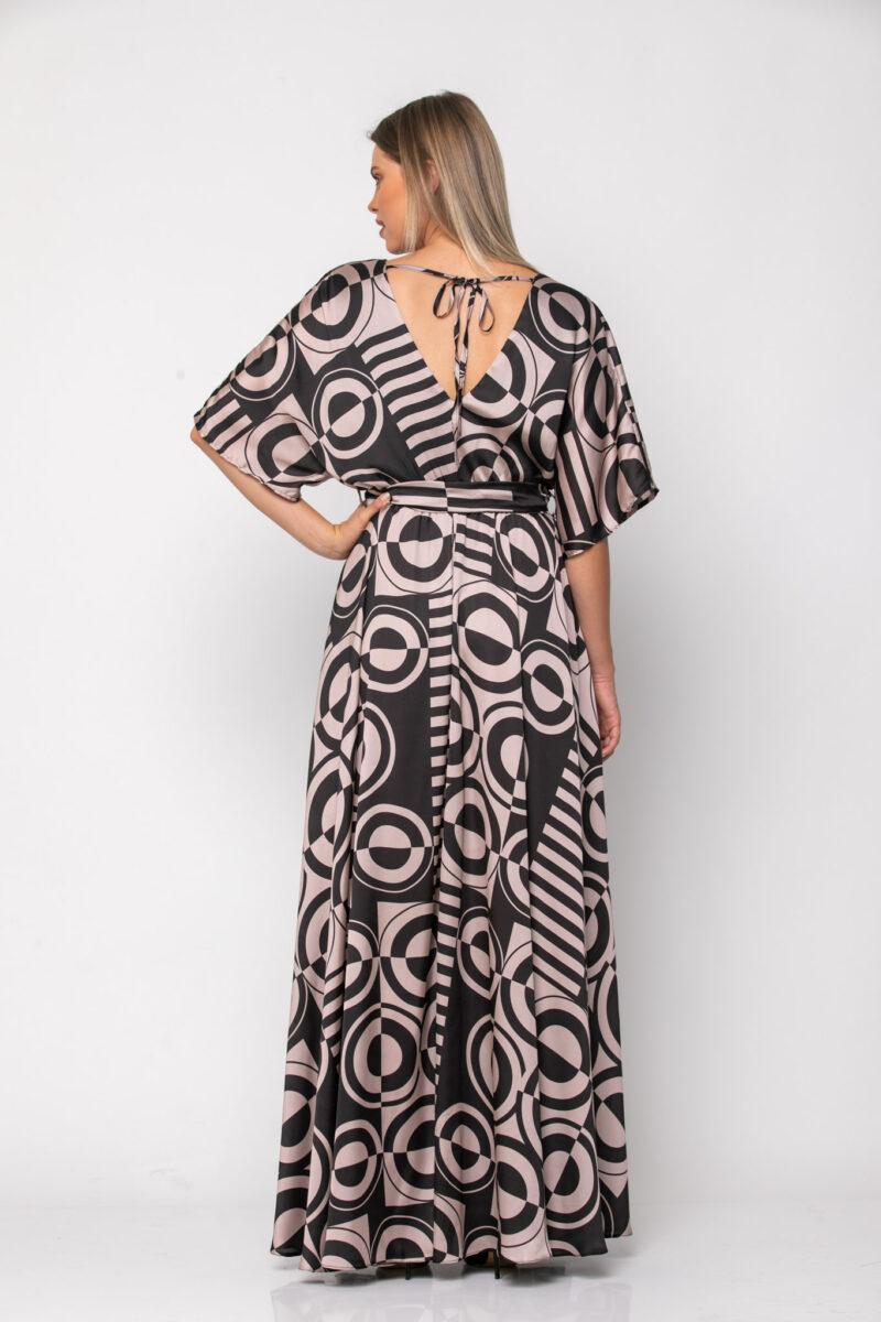 Φόρεμα καφτάνι εμπριμέ σε άνετη γραμμή με extra ζώνη 21112360