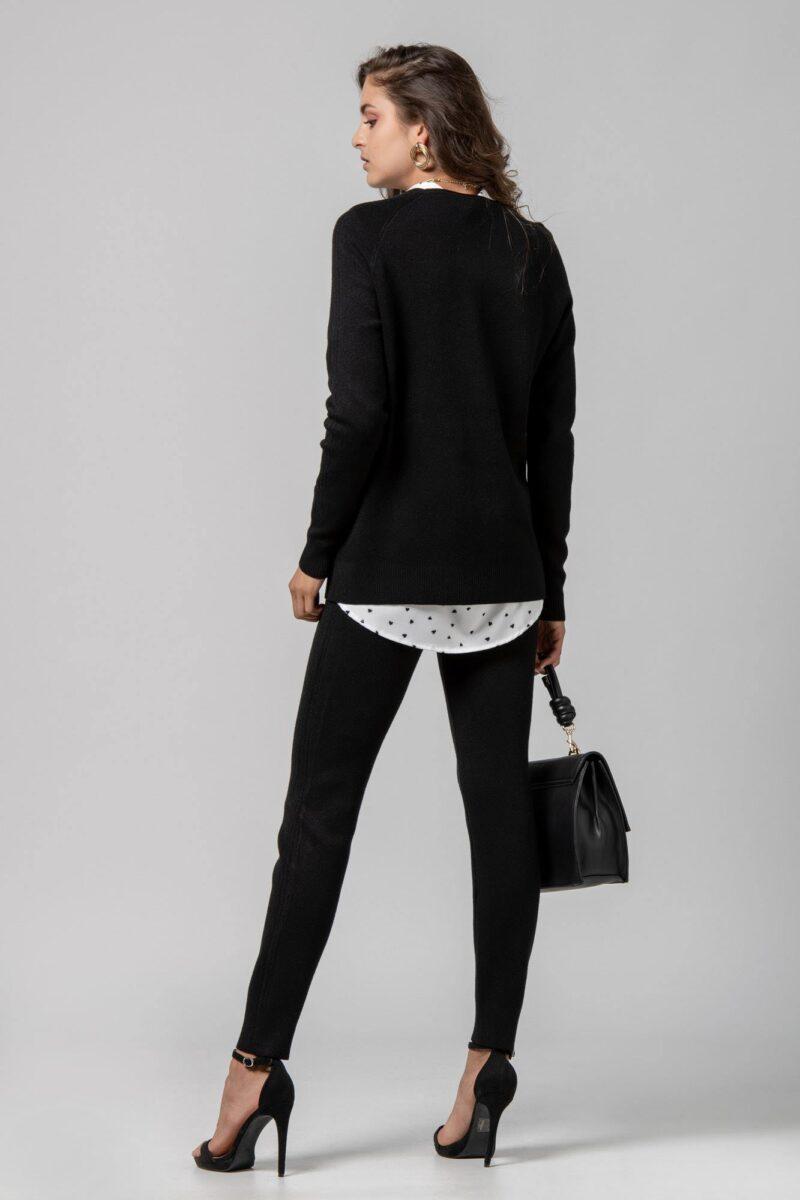 Μπλούζα πλεκτή μαύρη 1002500