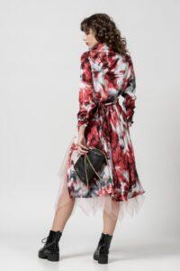 Φόρεμα tie dye κόκκινο 1102405