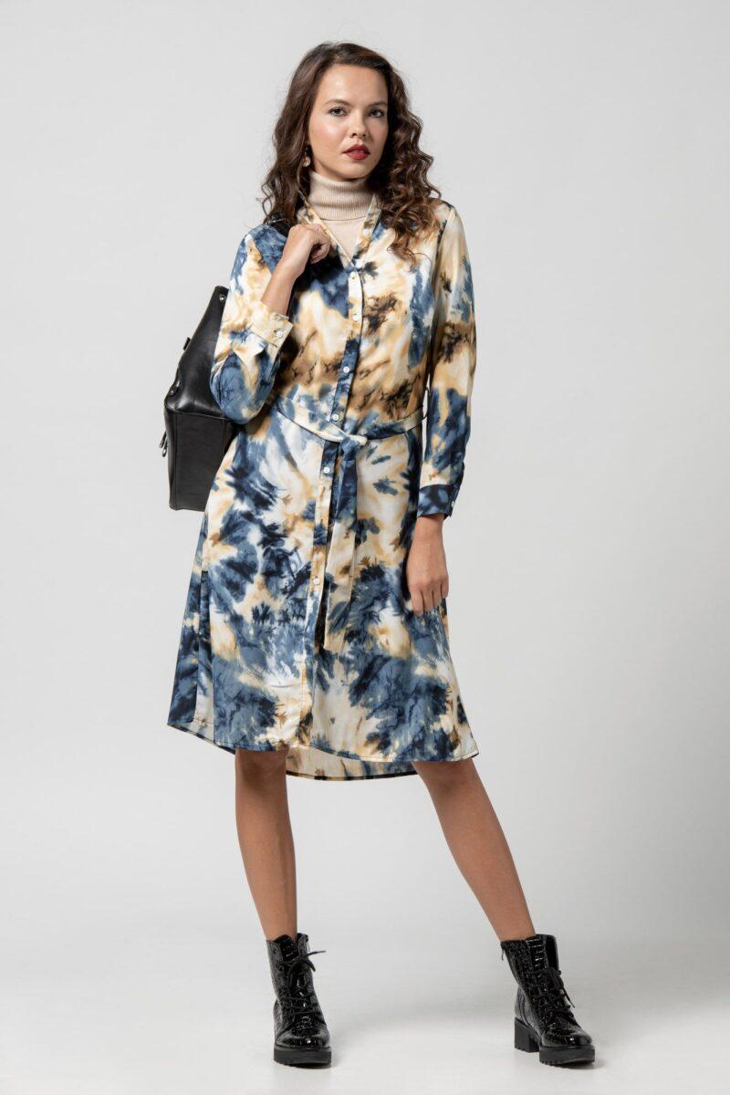 Φόρεμα tie dye μπλέ 1102405-1