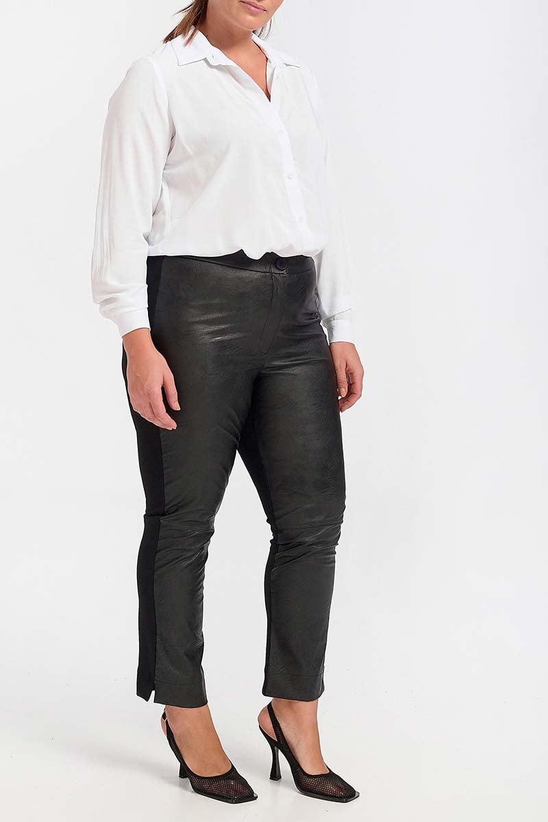 Παντελόνι δερμάτινο μαύρο 2021301317