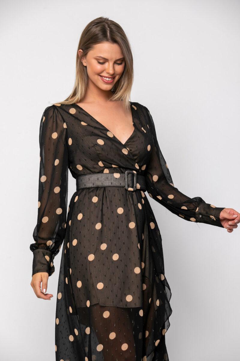 Φόρεμα midi κρουαζέ 21112355