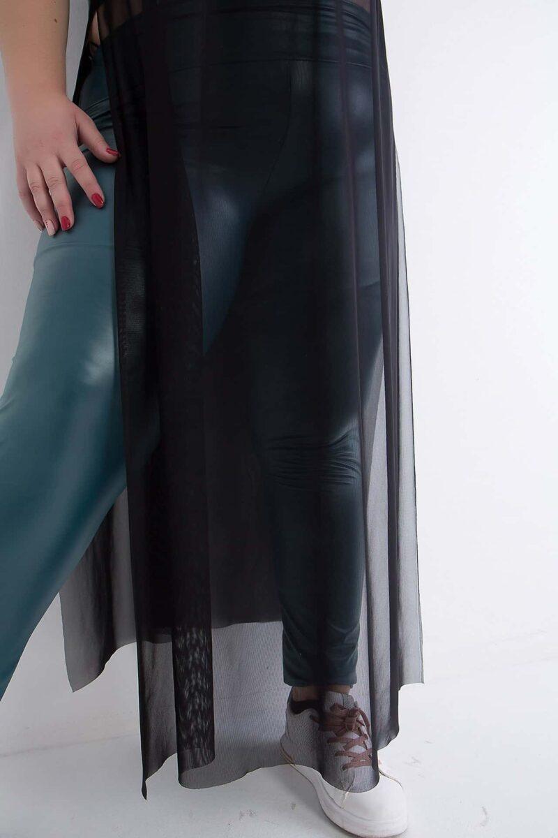 Μπλούζα με τούλι μπορντό 216831506-1