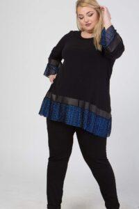 Μπλούζα μαύρη με μπλε μεταλλικό 216839494