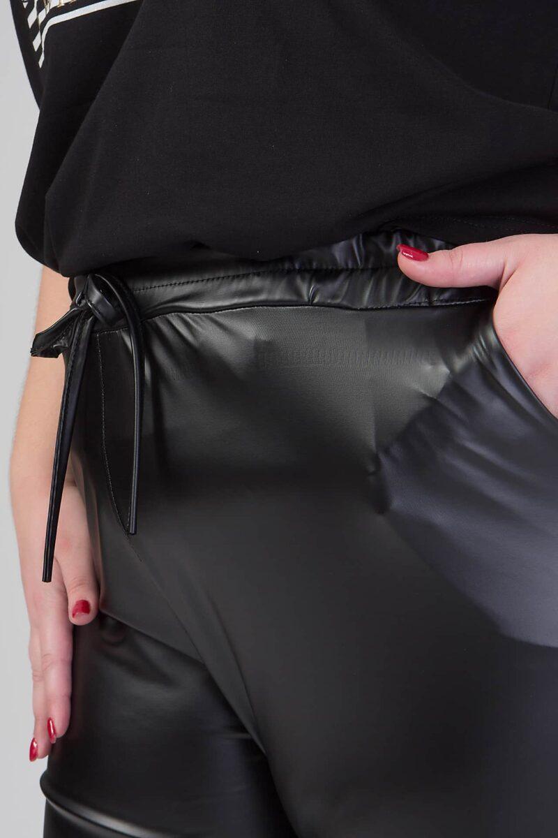 Παντελόνι δερμάτινο μαύρο 216841081
