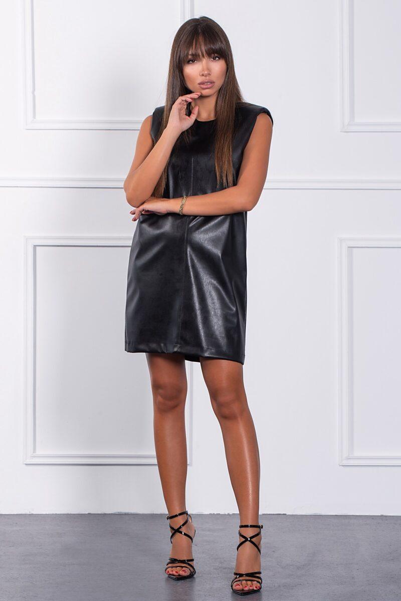 Φόρεμα δερμάτινο με βάτες 1002129527