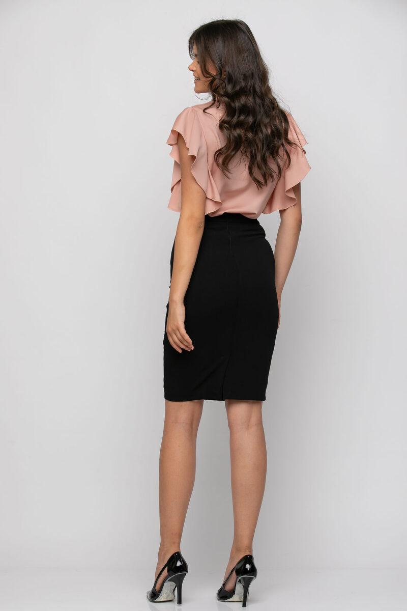 Φούστα midi pencil που αγκαλιάζει το σώμα μαύρη 21041084
