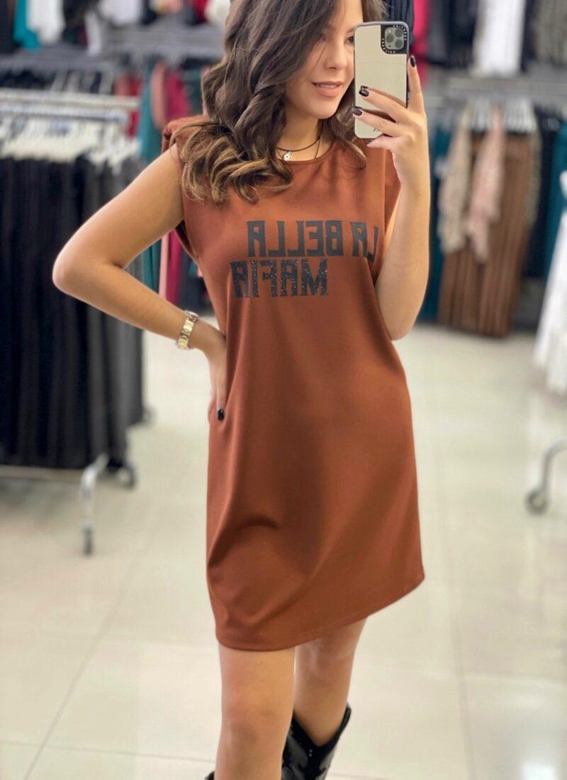 """Φόρεμα """"la bella mafia"""" με βάτες ταμπά 50388170"""