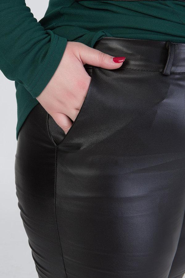 Παντελόνι δερμάτινο πεντάτσεπο μαύρο 2168.411700101