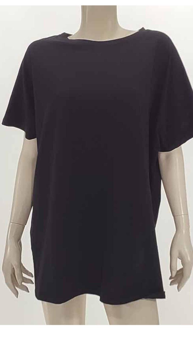 Μπλούζα με κοντό μανίκι μαύρο 2601-2