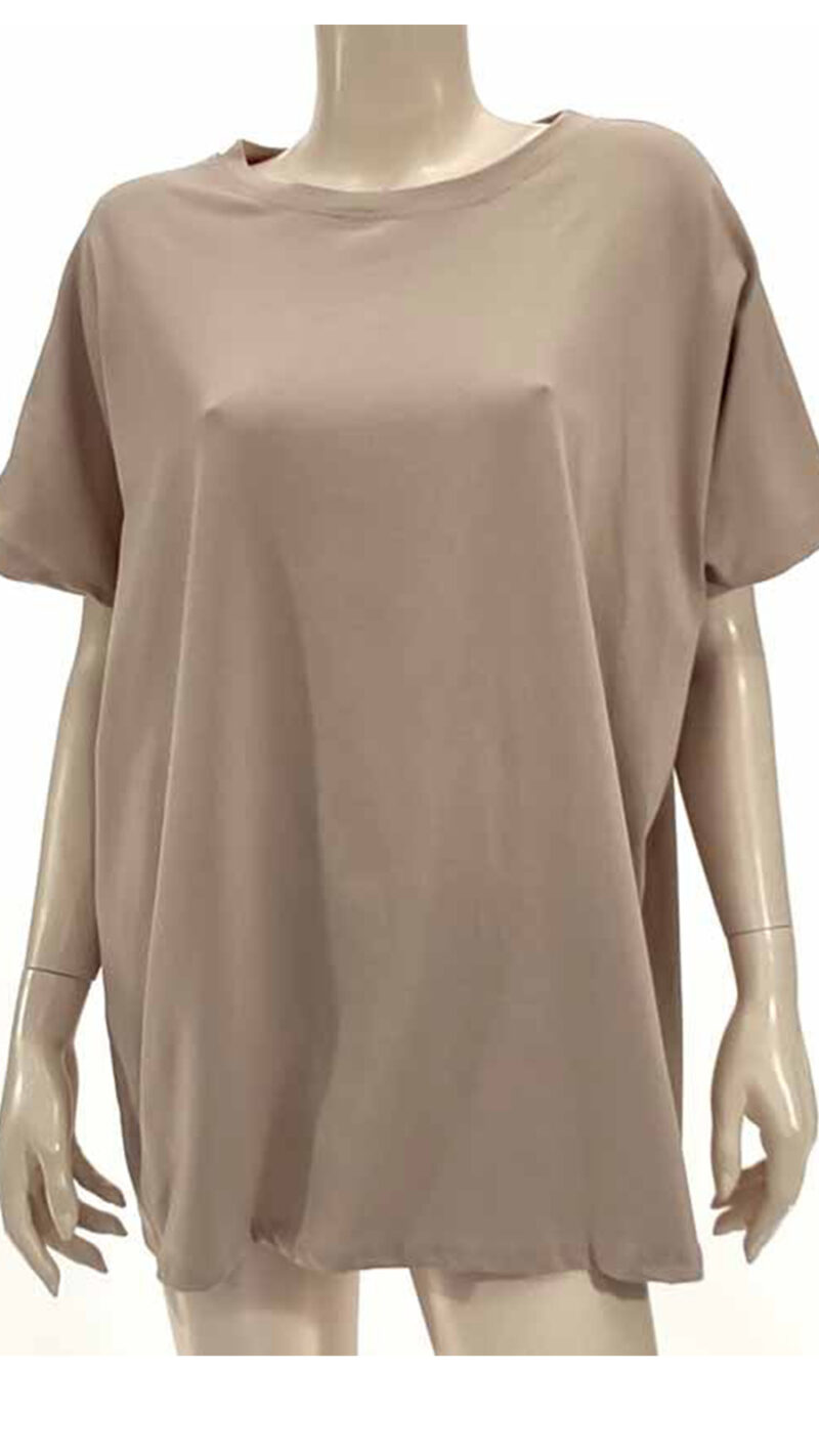 Μπλούζα με κοντό μανίκι μπεζ 2601-1