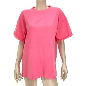 Μπλούζα με κοντό μανίκι φούξ A5321-1