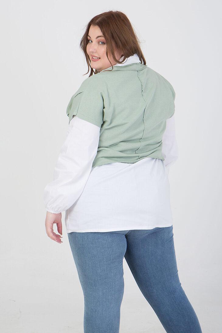 Πουκάμισο μακρυμάνικο με μπλούζα από πάνω βεραμάν 2160.21268