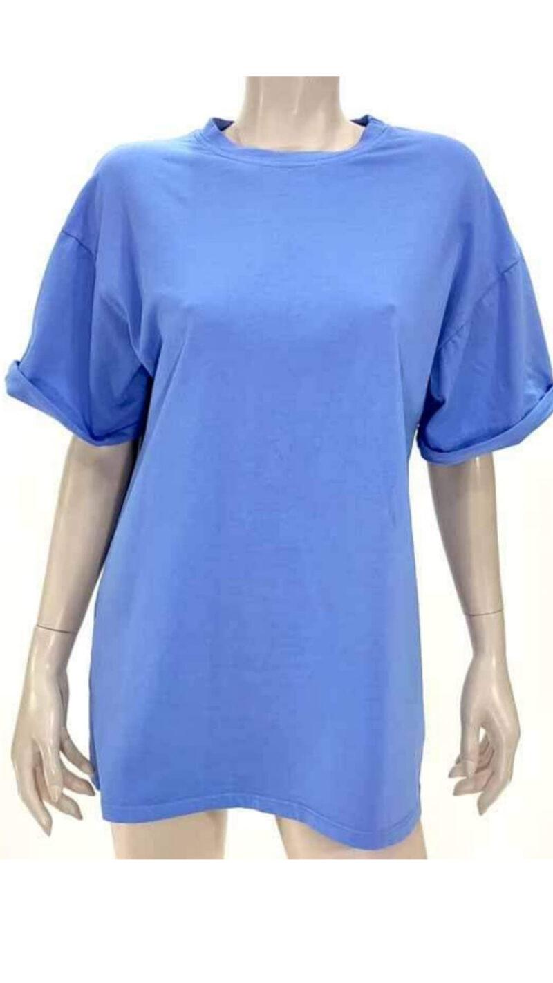 Μπλούζα με κοντό μανίκι σιέλ A5321-2