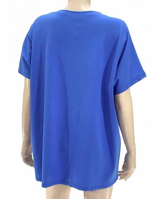 Μπλούζα με κοντό μανίκι μπλέ 2601