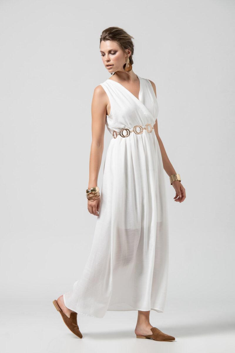 Φόρεμα μάξι λευκό 1102513