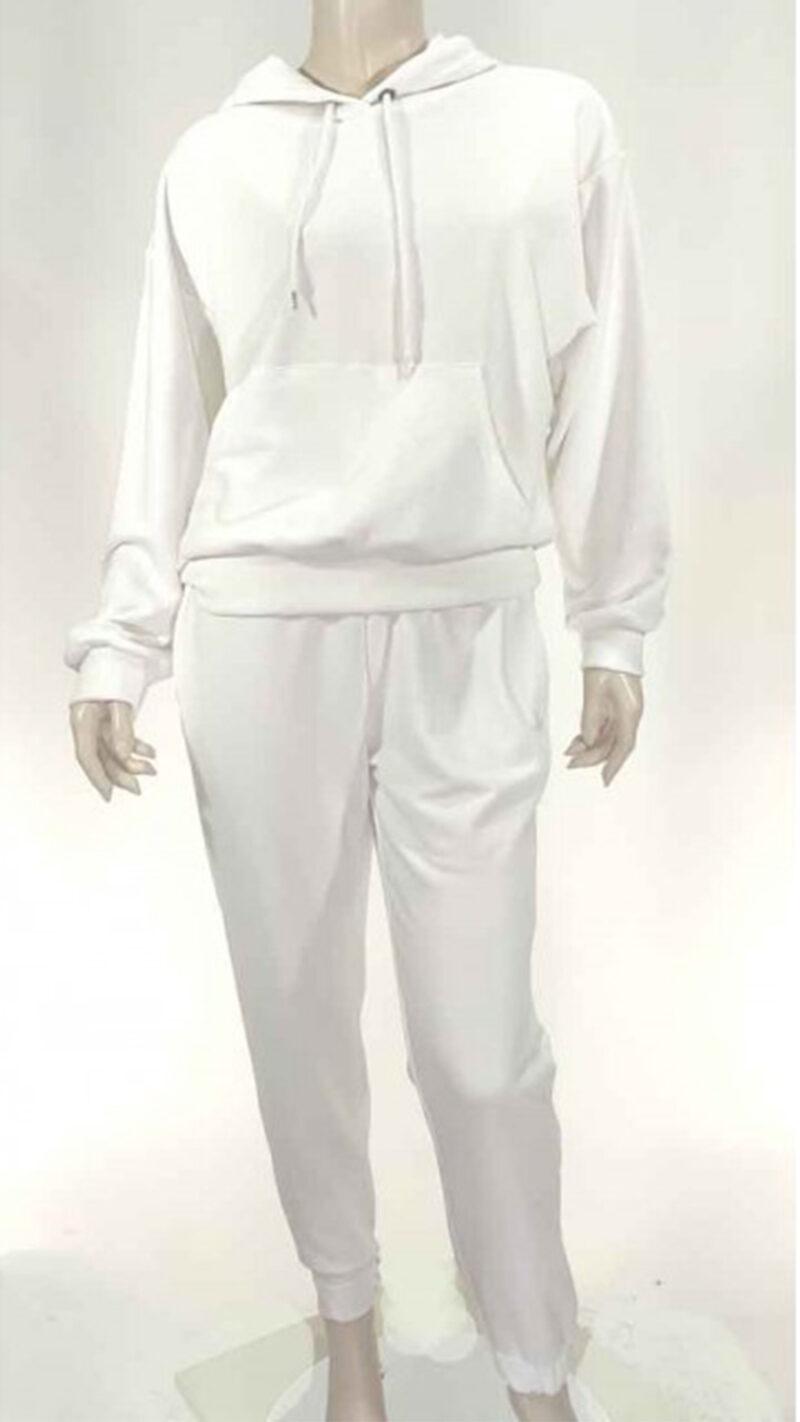 Σέτ φόρμας φούτερ λευκό 8999-2