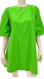 Φόρεμα ποπλίνα σε άλφα γραμμή πράσσινο 6901-4
