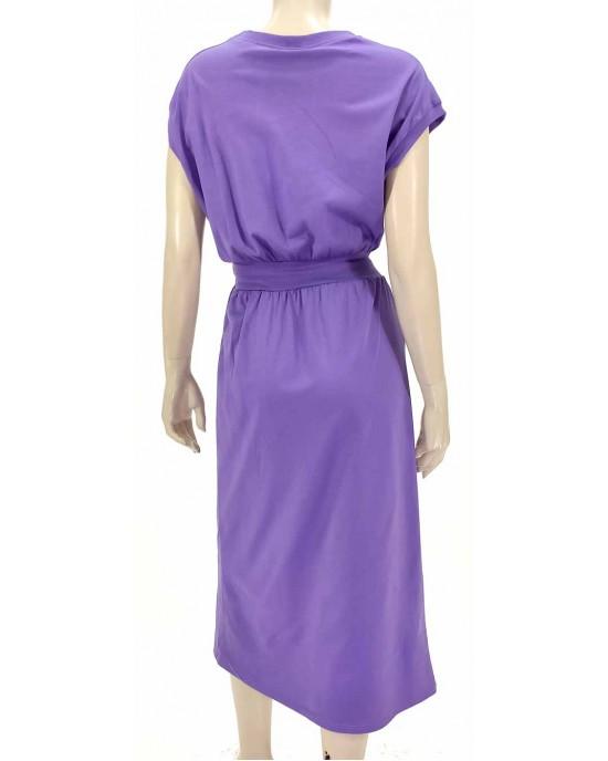 Φόρεμα midi λιλά 3140-1