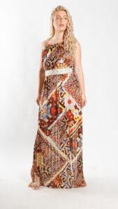 Φόρεμα μάξι εμπριμέ 3819