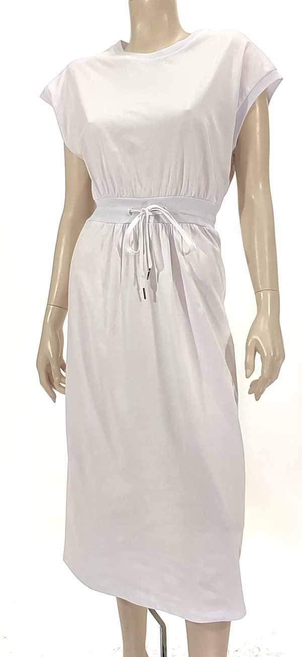 Φόρεμα midi λευκό 3140-4