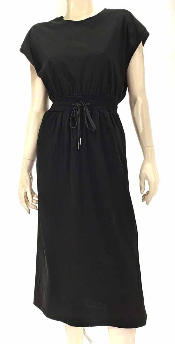 Φόρεμα midi μαύρο 3140-3