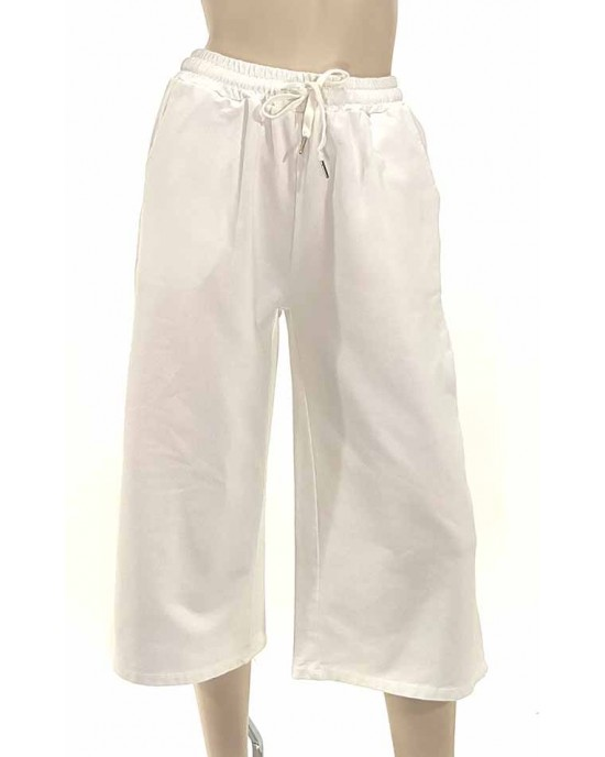 Παντελόνι φούτερ ζίπ λευκό 7888-2