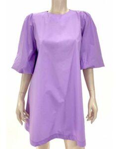 Φόρεμα ποπλίνα σε άλφα γραμμή λιλά 6901-2