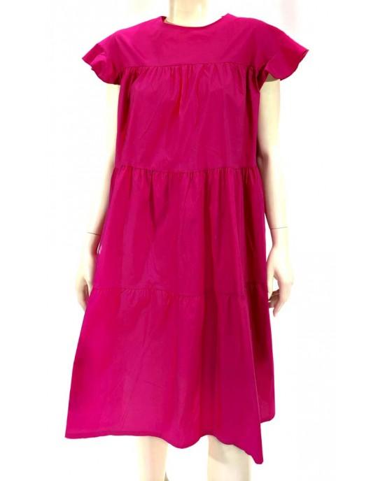 Φόρεμα ποπλίνα oversize φούξ 1473-2