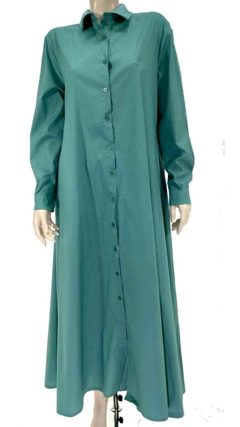 Φόρεμα σεμιζίε μέντα 4569-1