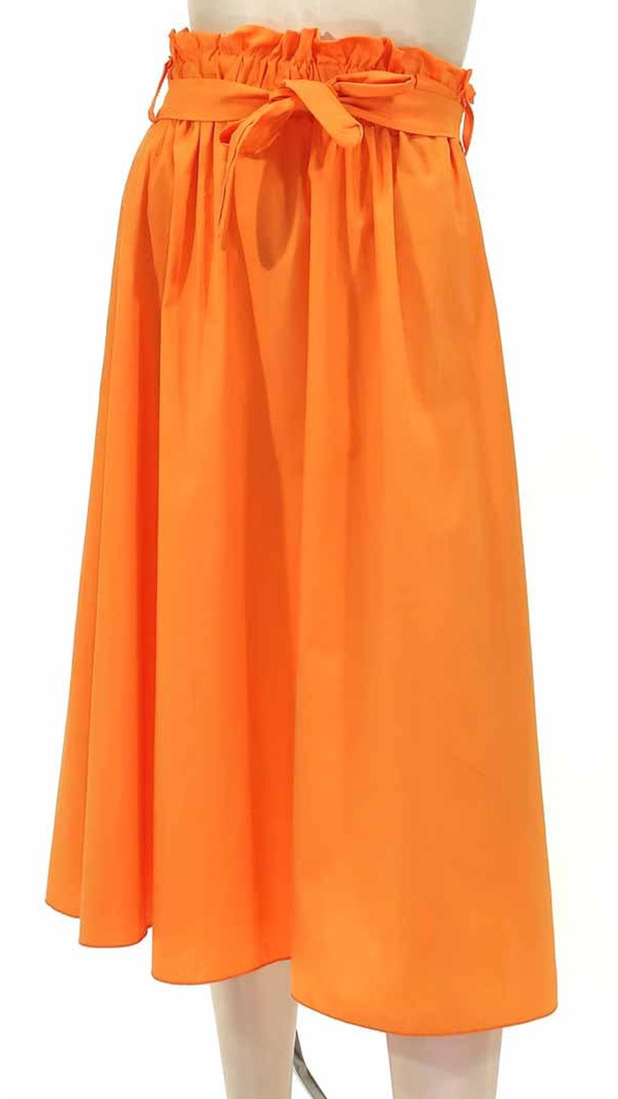 Φούστα σε άλφα γραμμή πορτοκαλί 3309-2