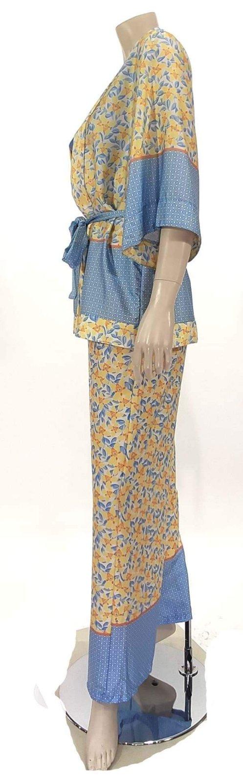 Σέτ κιμώνο με παντελόνα εμπριμέ 6839-1