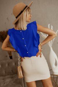Μπλούζα με βολάν ρουά 3002-4