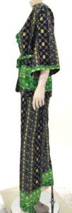 Σέτ κιμώνο με παντελόνα εμπριμέ 6839-2