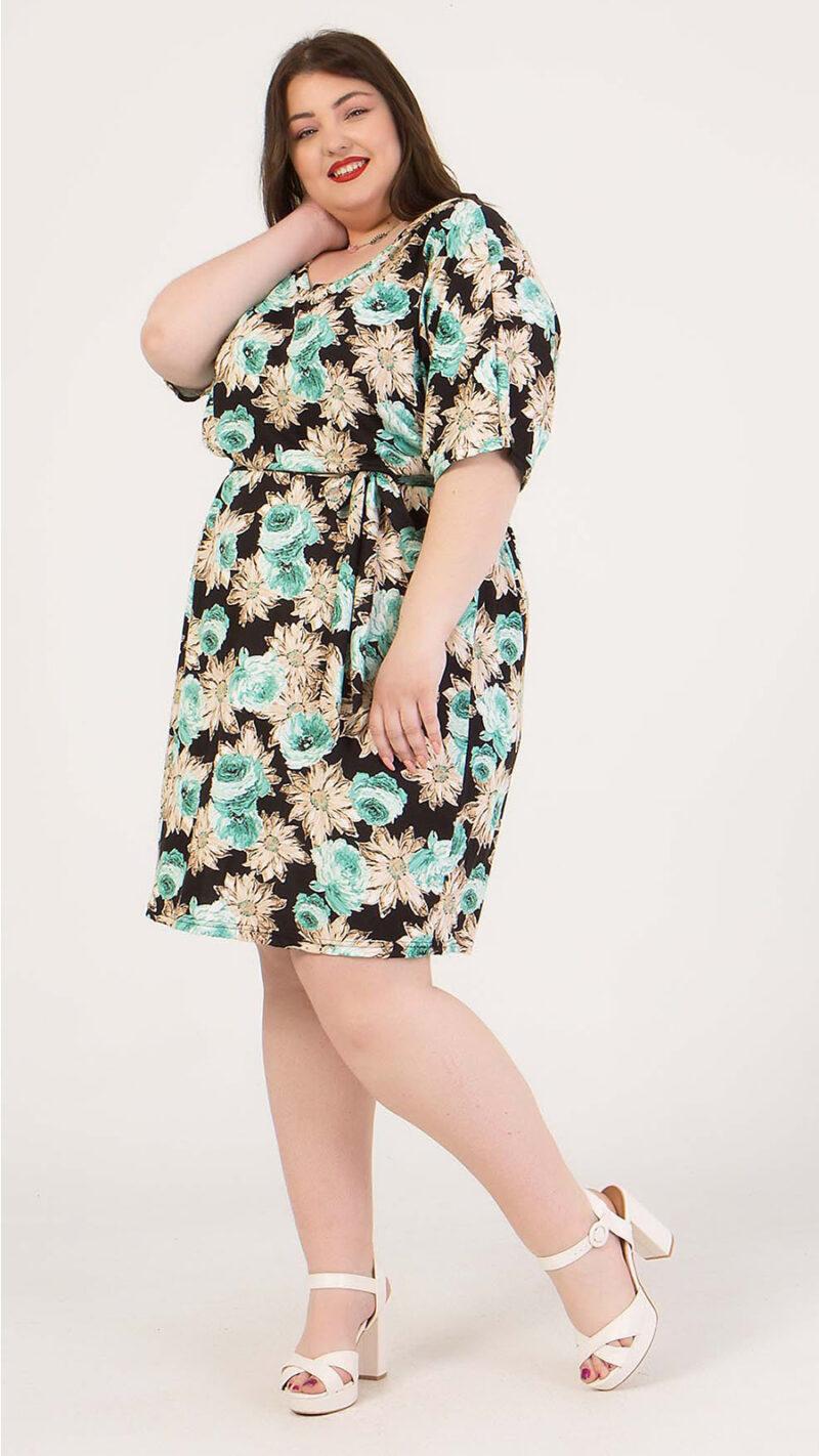 Φόρεμα κοντό φλοράλ κρουαζέ 2160.91124-1