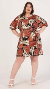 Φόρεμα κοντό φλοράλ κρουαζέ 2160.91124