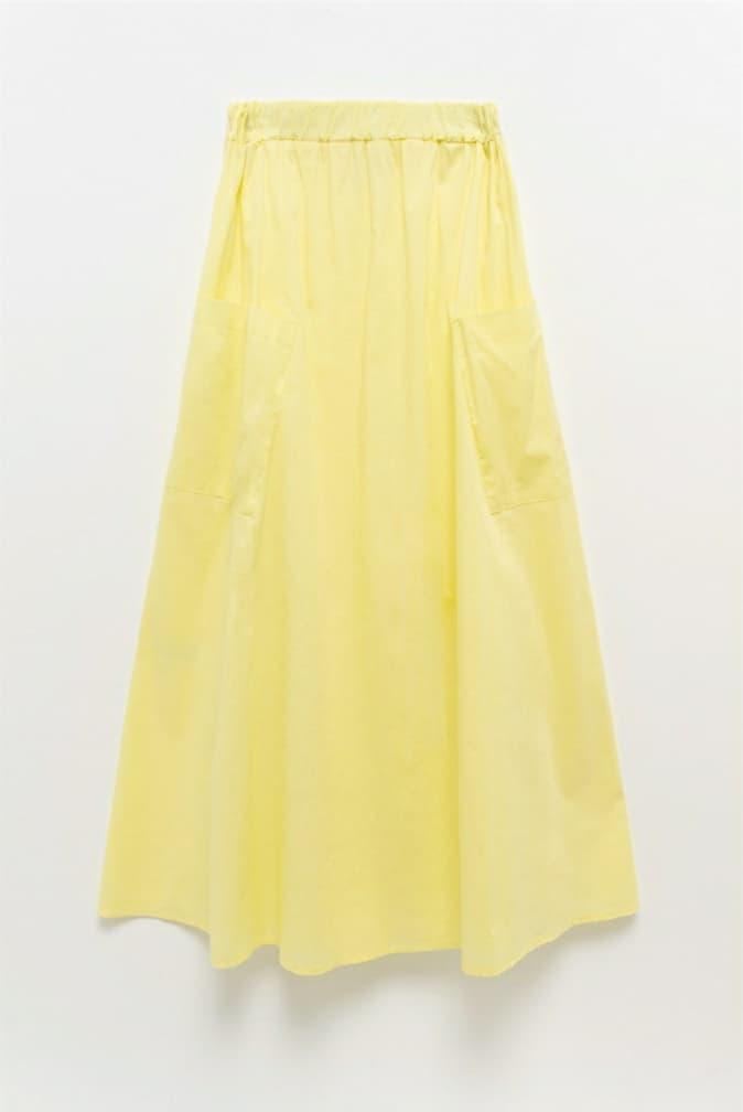 Φούστα μάξι κίτρινη 3133-1