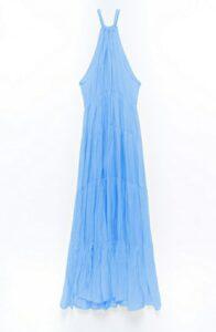 Φόρεμα maxi αμάνικο μπλε 3189