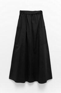 Φούστα μάξι μαύρη 3133-3
