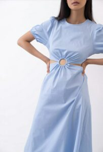 Φόρεμα με κρίκο μπλέ 3290