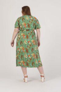 Φόρεμα midi floral με ζώνη στη μέση 2160.91088