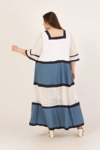 Φόρεμα maxi με τρουα κάρτ μανίκια 216092134