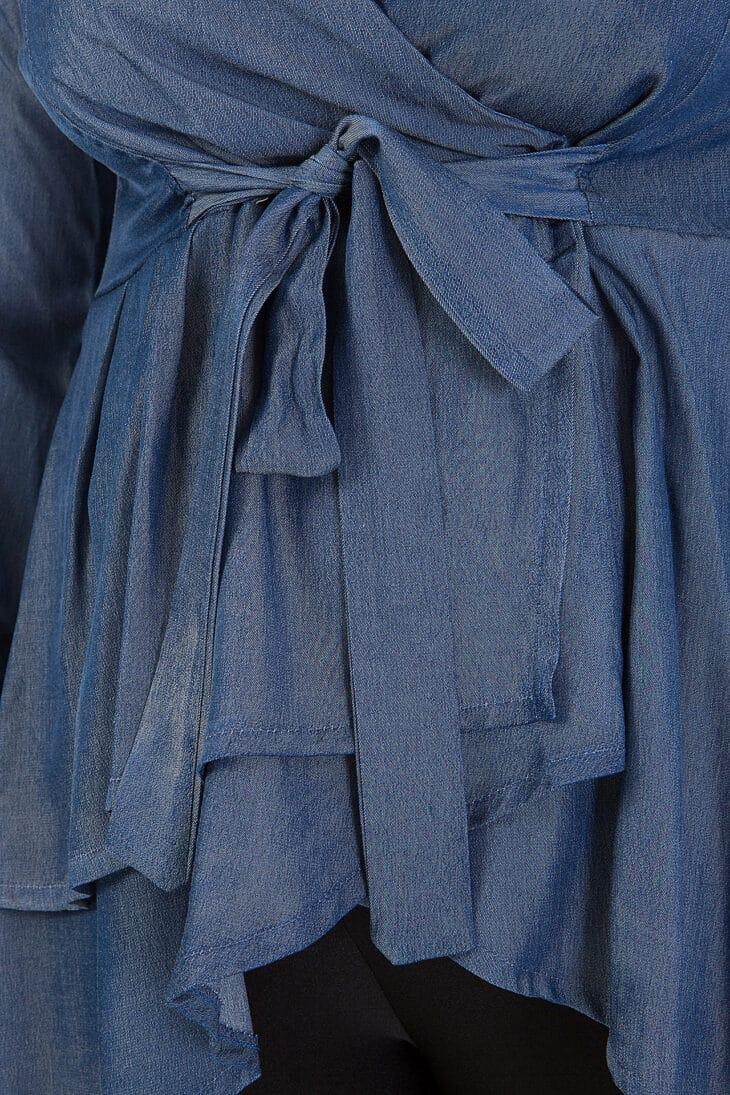 Μπλούζα Denim με δέσιμο 2268.39430