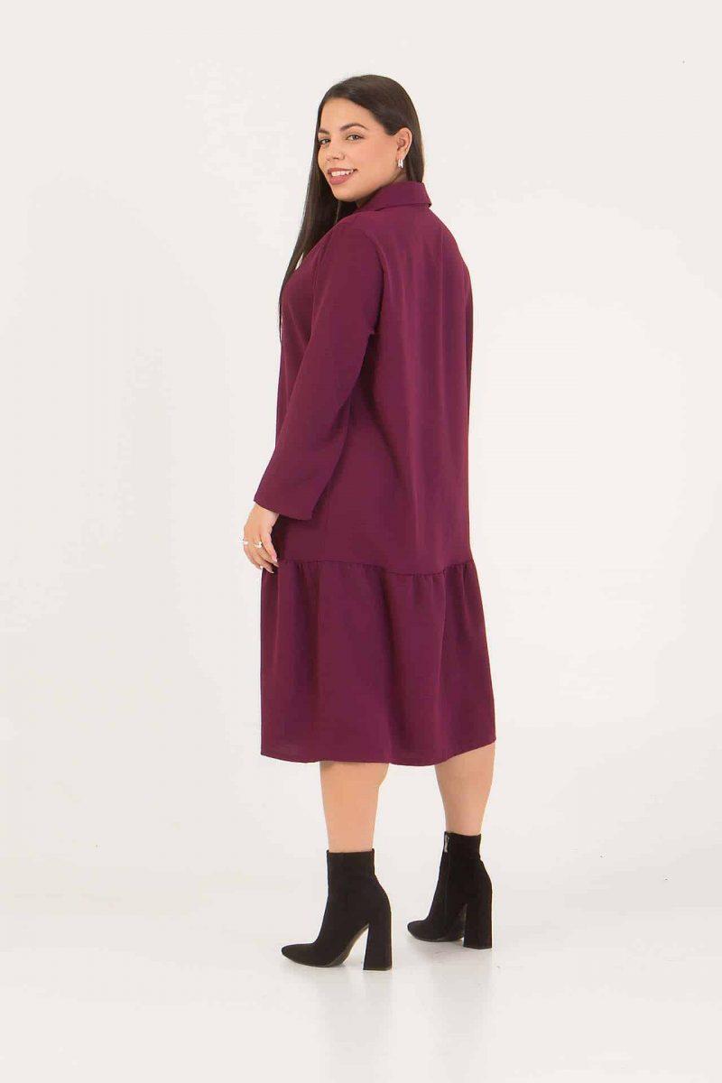 Φόρεμα - Πουκαμίσα μπορντό 226892322-2
