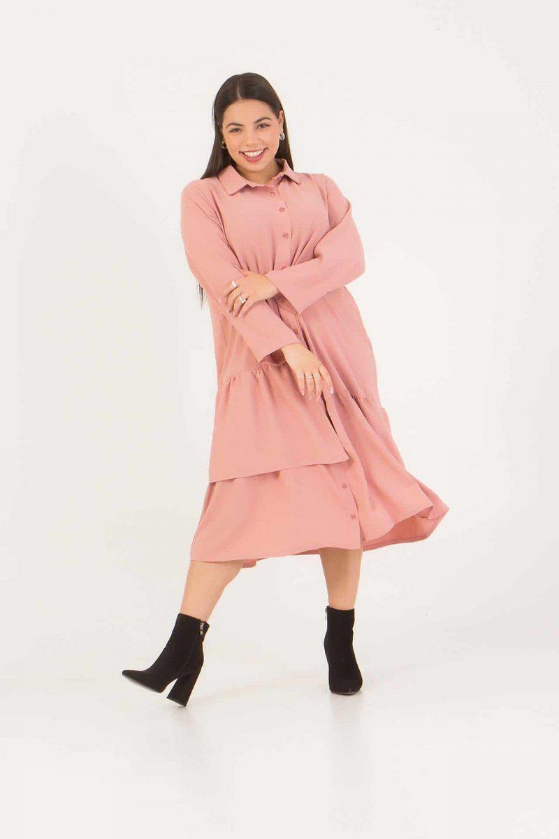 Φόρεμα - Πουκαμίσα ροζ 226892322-1